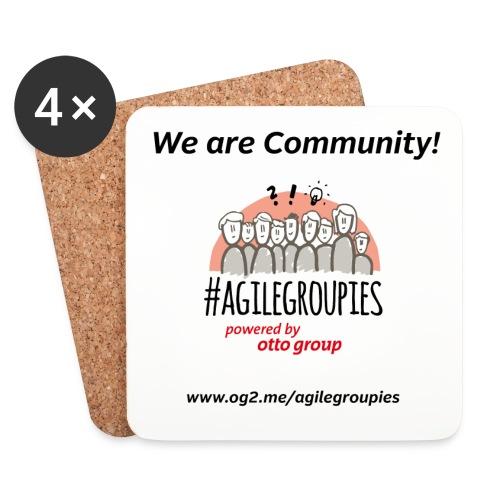 agilegroupies we are community white - Untersetzer (4er-Set)