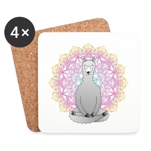 Meditating Llama - Glasbrikker (sæt med 4 stk.)