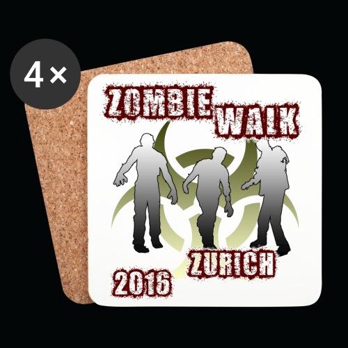 shirt zombie walk - Untersetzer (4er-Set)