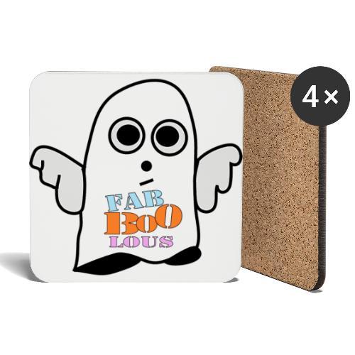 Halloween Geist BOO - Untersetzer (4er-Set)