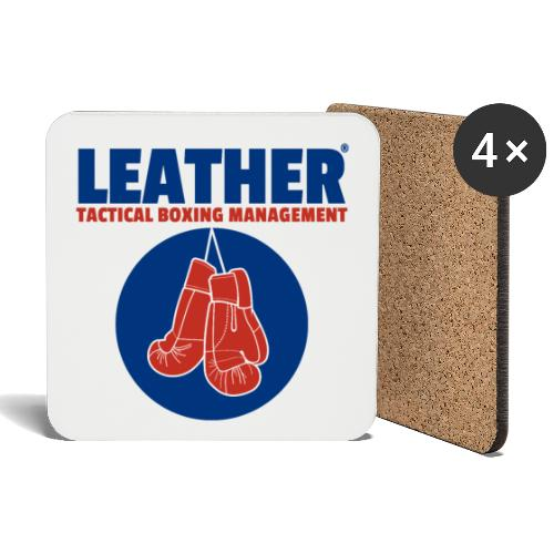 The LEATHER® Complete Logo - Vertical - Coasters (set of 4)