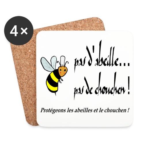 Pas d'abeille, pas de chouchen - Dessous de verre (lot de 4)
