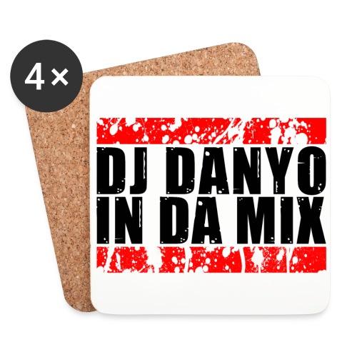 DJ Danyo Logo weiß - Untersetzer (4er-Set)