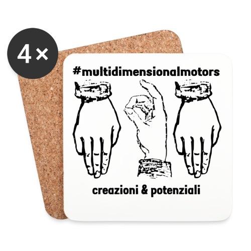 logo #MultiDimensionalMotors con segni italiani - Sottobicchieri (set da 4 pezzi)