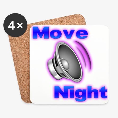 Logo-Move-Night-4096px2 - Dessous de verre (lot de 4)