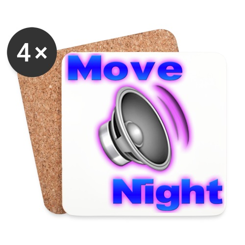 Logo-Move-Night-4096px2 - Dessous de verre (lot de 4)