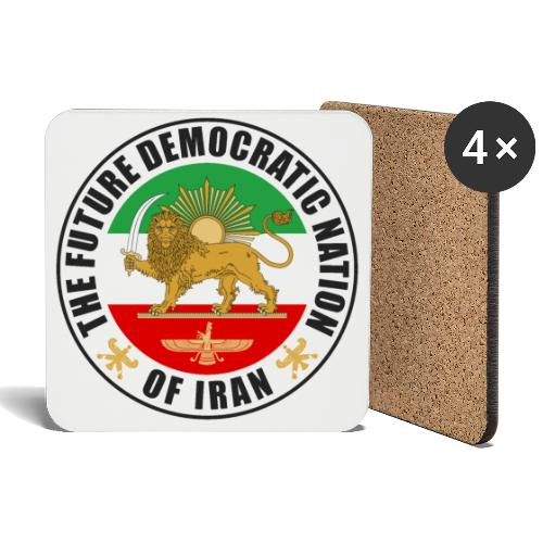 Iran Emblem Old Flag With Lion - Coasters (set of 4)