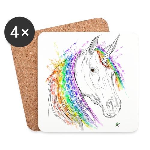 Unicorno - Sottobicchieri (set da 4 pezzi)