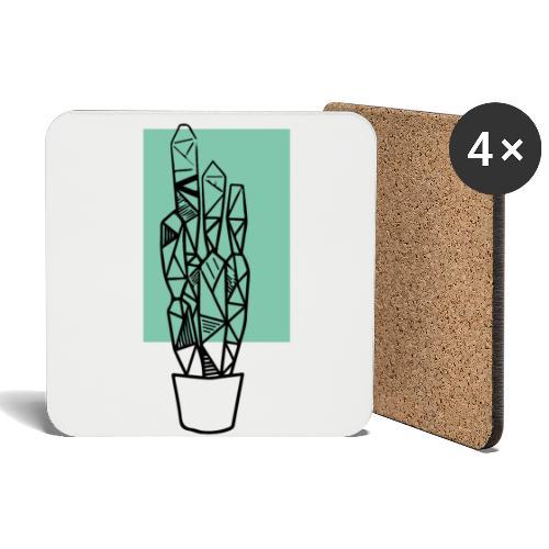 Kleiner Designer Kaktus - Untersetzer (4er-Set)