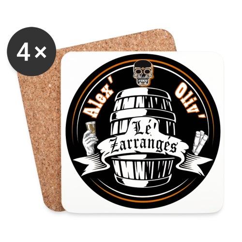 Logo rond Lé Zarrangés - Dessous de verre (lot de 4)