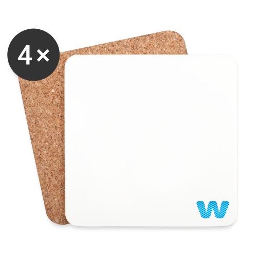 Logo kun W - Brikker (sett med 4)