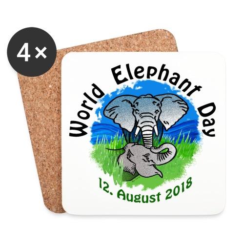 World Elephant Day 2018 - Untersetzer (4er-Set)
