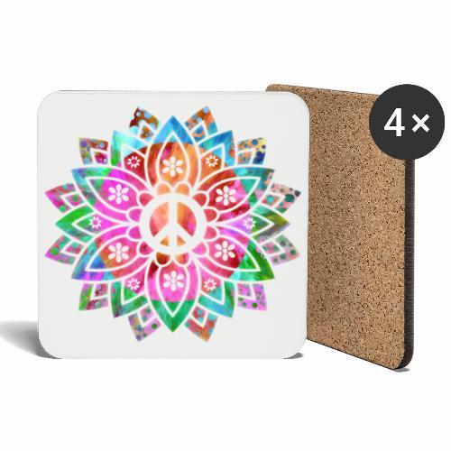 Peace Flower - Coasters (set of 4)