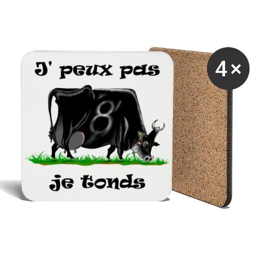 vache, vaches, bétail, Je peux pas je tonds - Dessous de verre (lot de 4)