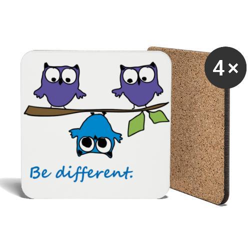 Vogel auf Ast - Be different - Untersetzer (4er-Set)