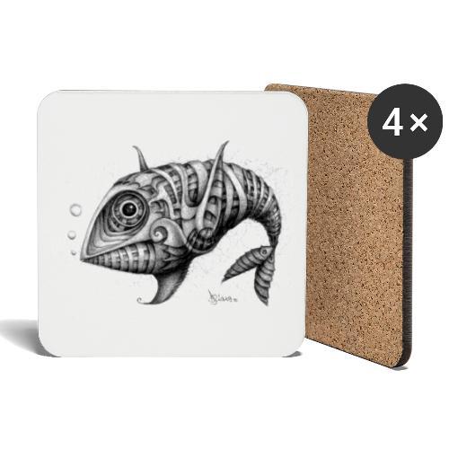 Pesce & Fish - Sottobicchieri (set da 4 pezzi)