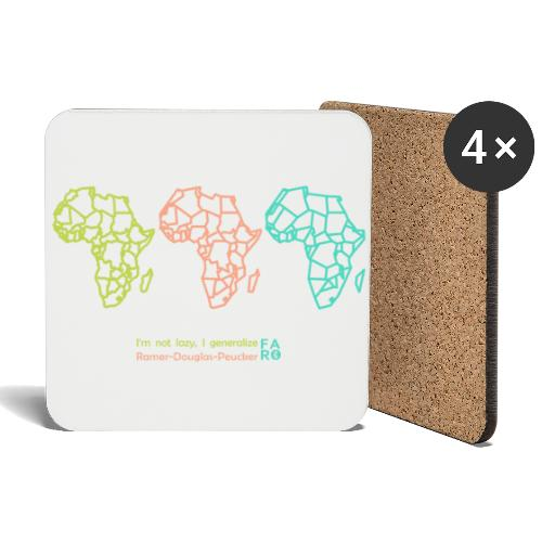 Ramer-Douglas-Peucker Algorithm -Africa - Coasters (set of 4)
