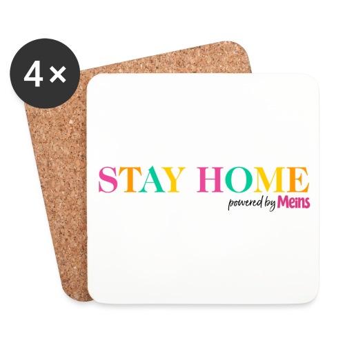 STAY HOME - Untersetzer (4er-Set)
