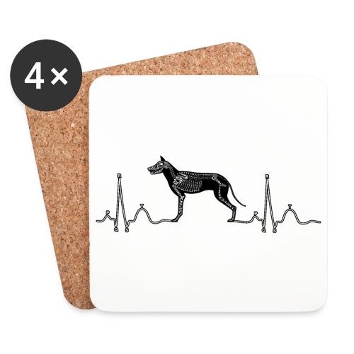 ECG met hond - Onderzetters (4 stuks)
