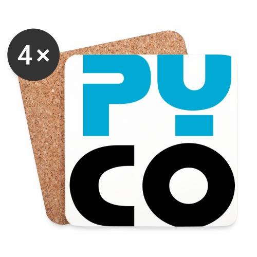 PYCO CARRE NOIR & bleu 40 - Dessous de verre (lot de 4)