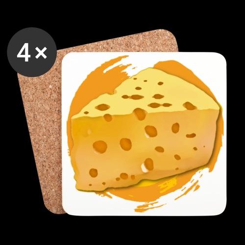 Cheese HD png - Glasbrikker (sæt med 4 stk.)