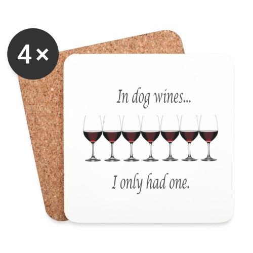 dog wines ovaal - Onderzetters (4 stuks)