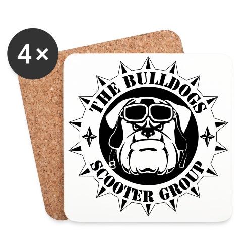 Bulldogs Scooter Group Logo-Black - Dessous de verre (lot de 4)