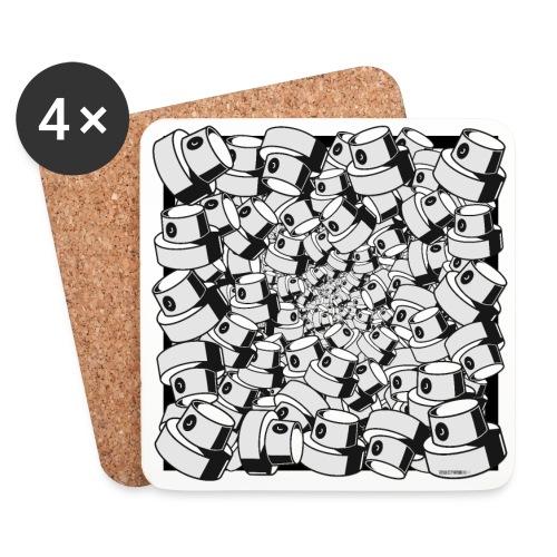 geometric graffiti fap caps square print ver 0.1. - Glasbrikker (sæt med 4 stk.)