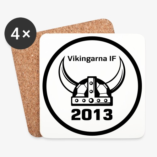 Vikingarna logo hvid - Glasbrikker (sæt med 4 stk.)