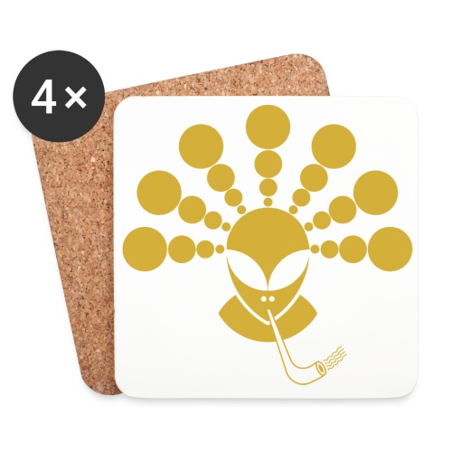 The Gold Smoking Alien - Coasters (set of 4)