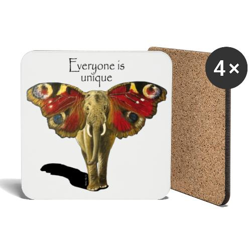 Everyone is unique - Untersetzer (4er-Set)