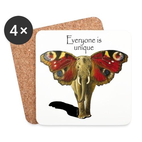 Everyone is unique – Schmettefant - Untersetzer (4er-Set)