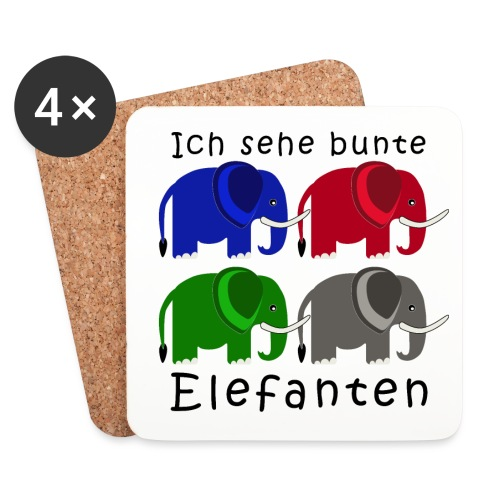 Kinderelefanten - Untersetzer (4er-Set)