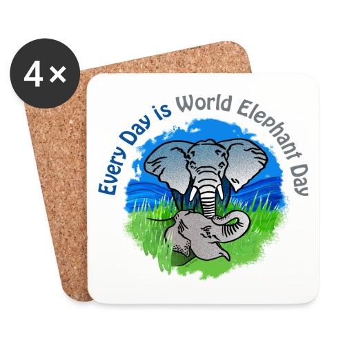 Every Day Is World Elephant Day - Untersetzer (4er-Set)