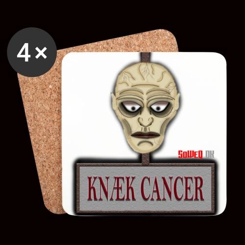 Knæk Cancer Kollektion ! - Glasbrikker (sæt med 4 stk.)