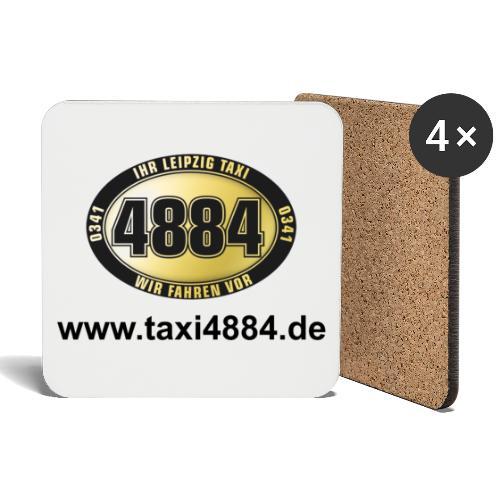 logoeinfach schwarz - Untersetzer (4er-Set)
