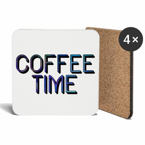 Coffee Time - Lasinalustat (4 kpl:n setti)