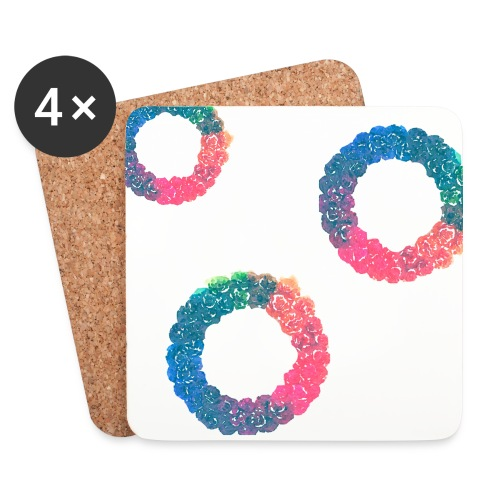 free rainbow wreath png watercolor by anjelakbm - Coasters (set of 4)