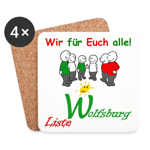 Notizblock LW Becher jpg - Untersetzer (4er-Set)