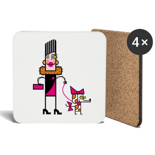 Animal 1 - Sottobicchieri (set da 4 pezzi)