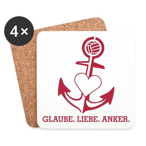 Glaube Liebe Anker - Untersetzer (4er-Set)