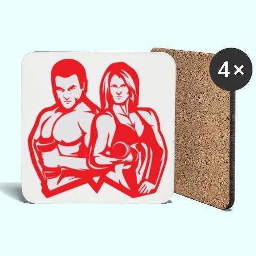 Man & woman NLB - Lasinalustat (4 kpl:n setti)