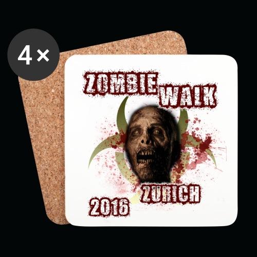 shirt zombie walk2 png - Untersetzer (4er-Set)