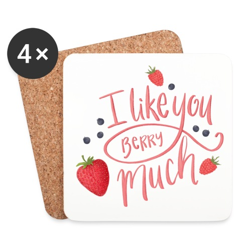 Like you berry much - Underlägg (4-pack)