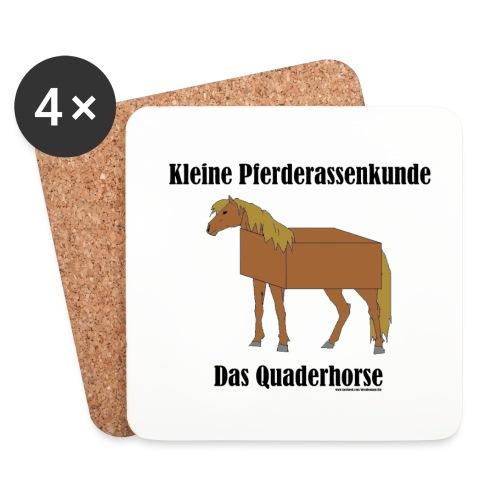 Quaderhorse - Untersetzer (4er-Set)