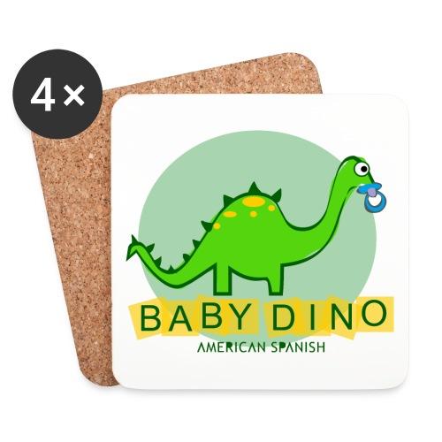 American Spanish Baby Dino - Posavasos (juego de 4)