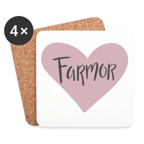 Farmor - hjärta - Underlägg (4-pack)
