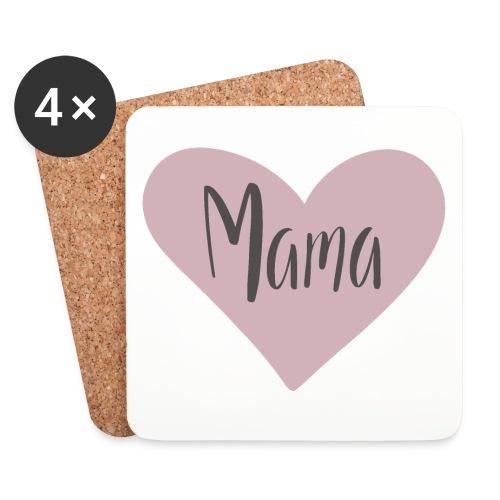 Mama - hjärta - Underlägg (4-pack)