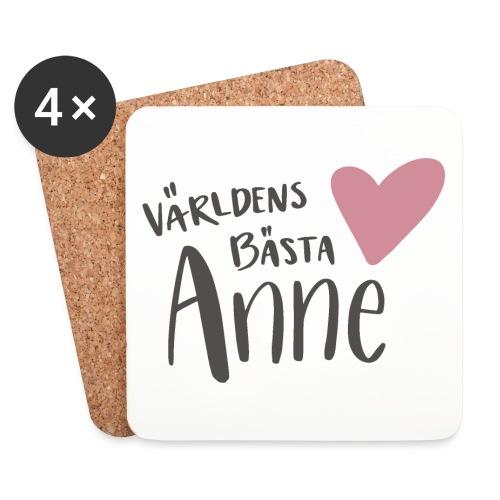 Världens bästa Anne - Underlägg (4-pack)