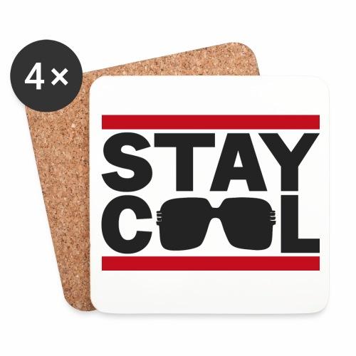 Stay Cool BLK √ - Glasbrikker (sæt med 4 stk.)